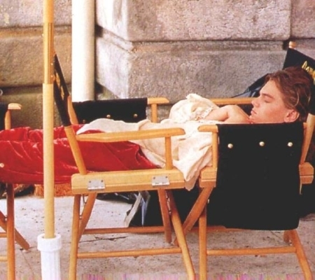Leonardo DiCaprio On the Set