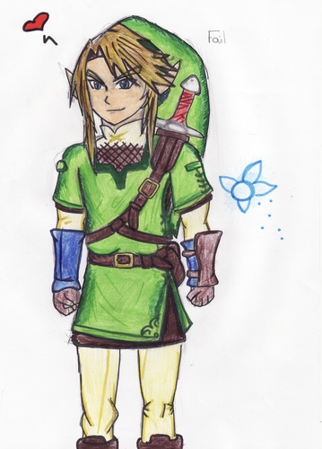 The Legend of Zelda wallpaper probably containing anime titled Link Doodle again :3