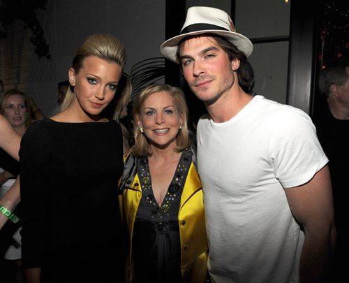 Melrose Place wallpaper probably with a fedora and a boater titled Melrose Place cast at CW Upfront party