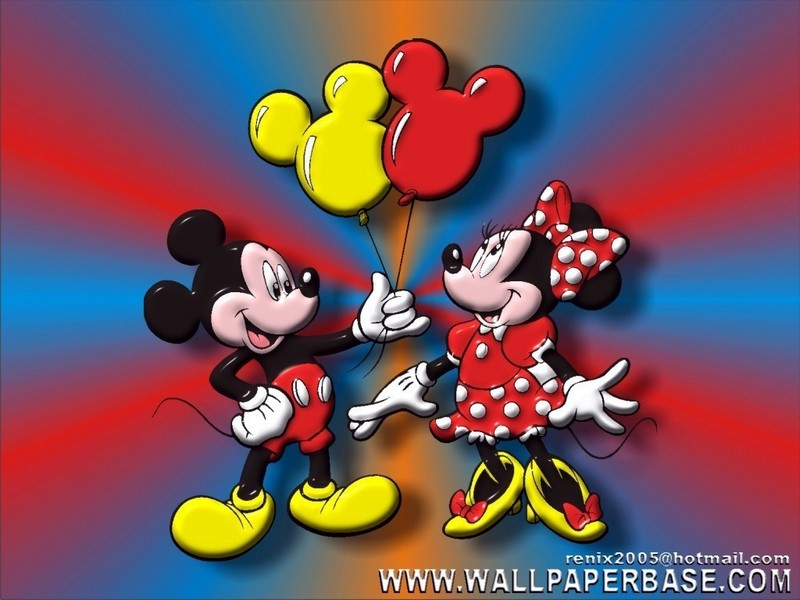 mickey mouse wallpapers. Mickey Mouse and Minnie Mouse