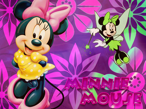 Minnie Mouse Wallpaper Probably With Anime Titled