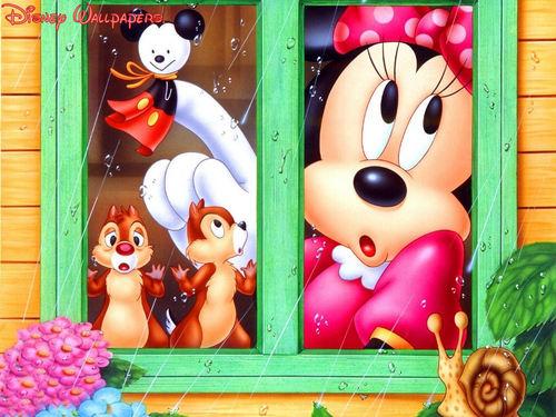 Minnie মাউস দেওয়ালপত্র