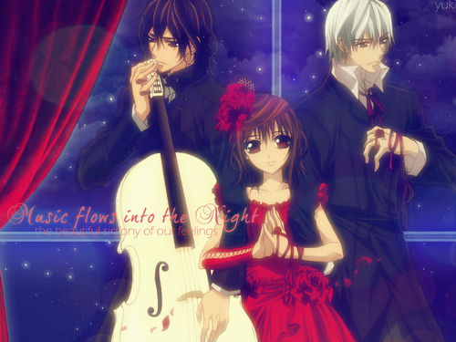 Music flows into the night - vampire-knight Wallpaper
