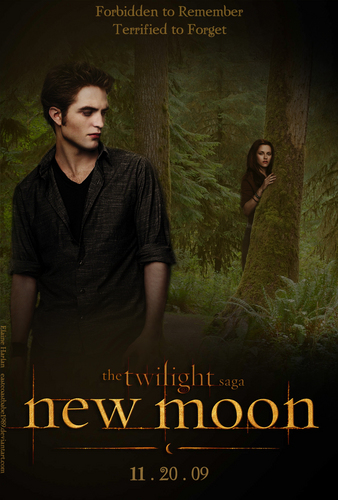 新月电影 壁纸 containing a sign and 日本动漫 entitled New Moon Poster