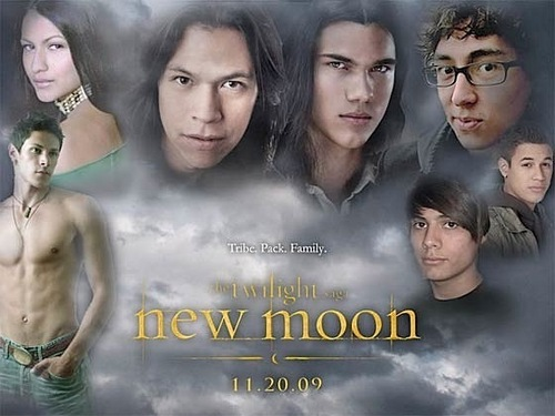 New Moon wallpaper possibly with a portrait entitled New Moon
