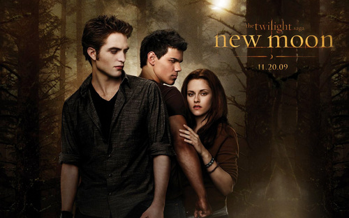 New Moon Movie wallpaper probably with a sign titled New Moon wallpaper