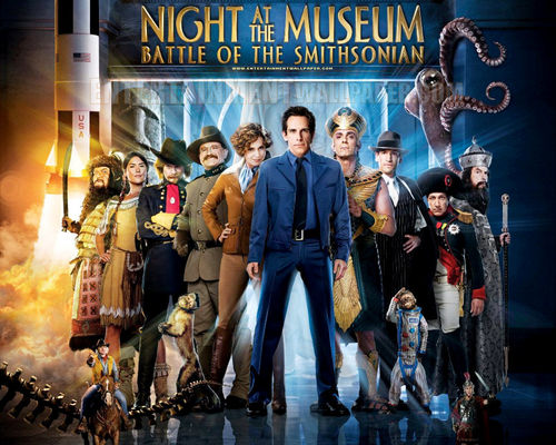 Filem kertas dinding possibly containing a konsert titled Night at the Museum 2: Battle of the Smithsonian