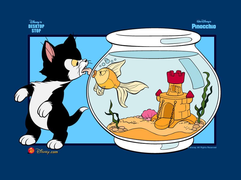 Pinocchio, Figaro and Cleo वॉलपेपर