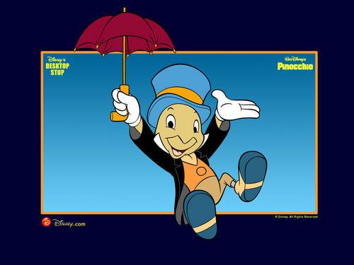 Pinocchio Jiminy Cricket fond d'écran