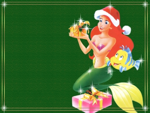 Walt Disney Wallpapers - Princess Ariel & Flounder