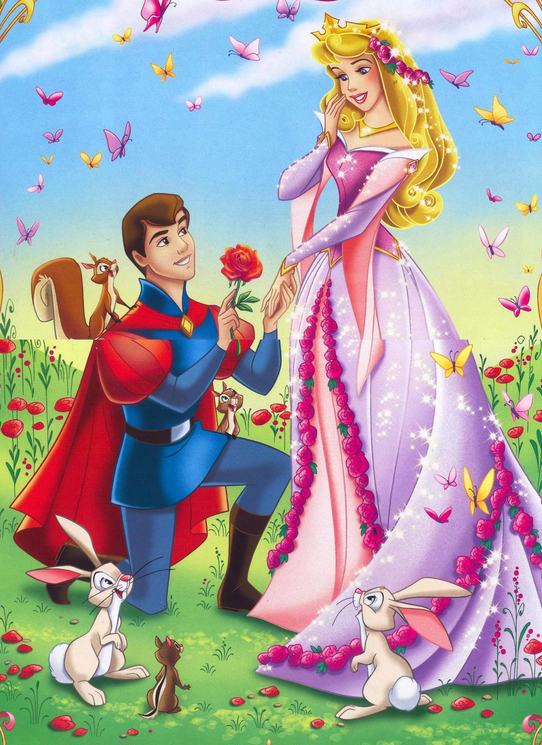 Princess Aurora and Prince Cartoon