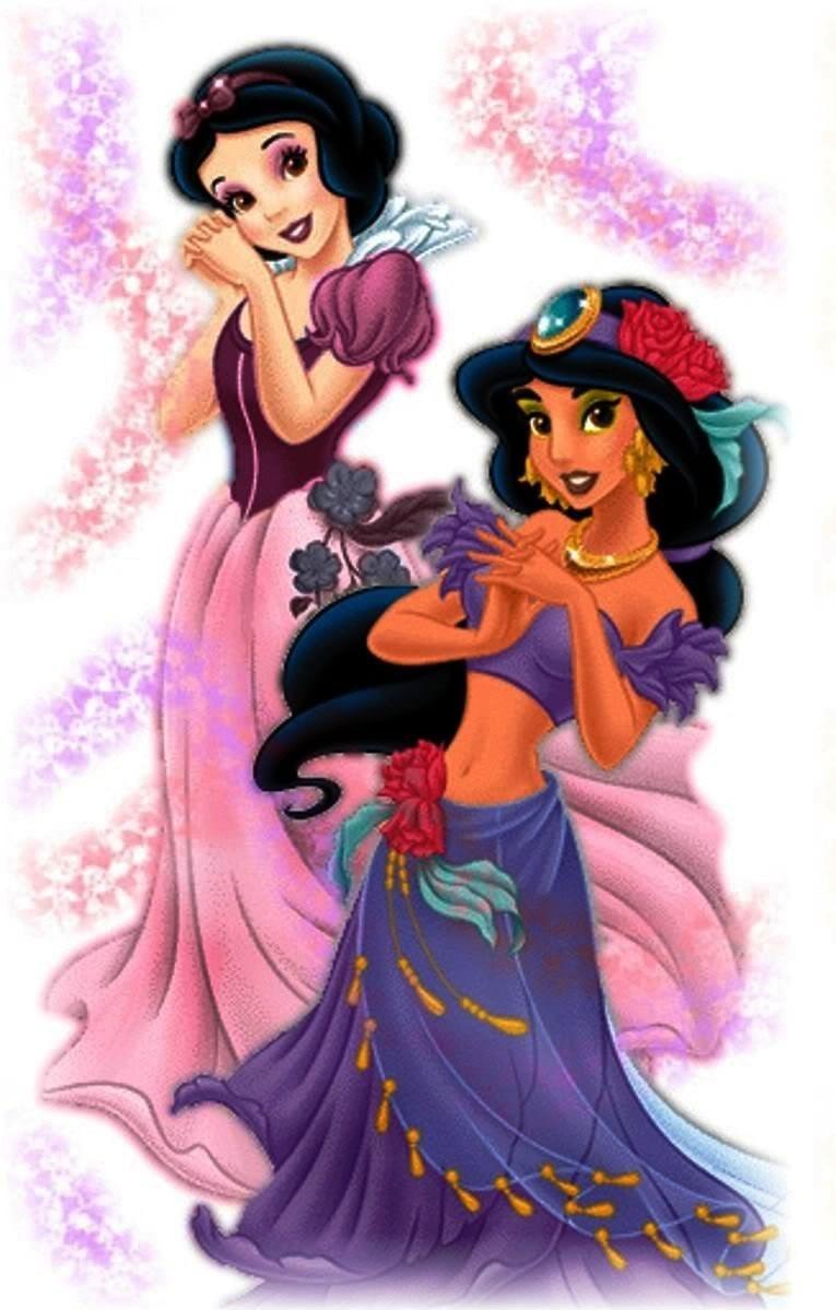 Princesses Snow White and Jasmine