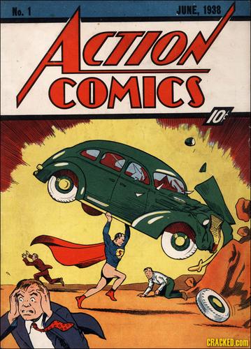 Superman kertas dinding containing Anime titled Rare Action Comics #1