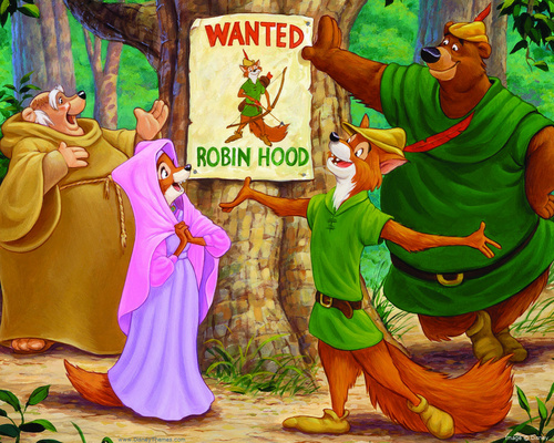 Walt Disney's Robin Hood wallpaper with anime called Robin Hood Wallpaper