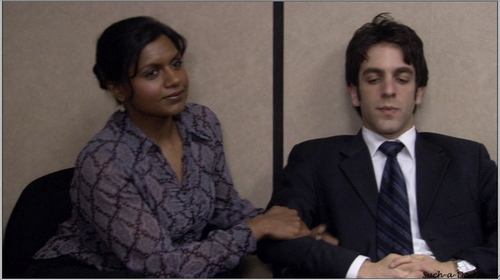 The Office wallpaper with a business suit, a suit, and a three piece suit called Ryan and Kelly