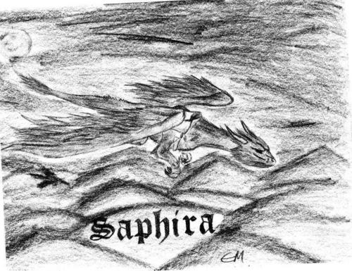 Saphira's pencil sketch