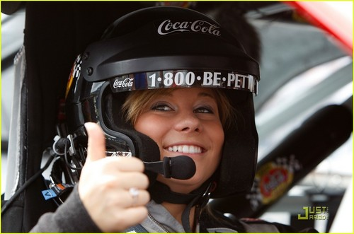 Shawn Johnson at the NASCAR Sprint Cup Series Coca-Cola 600