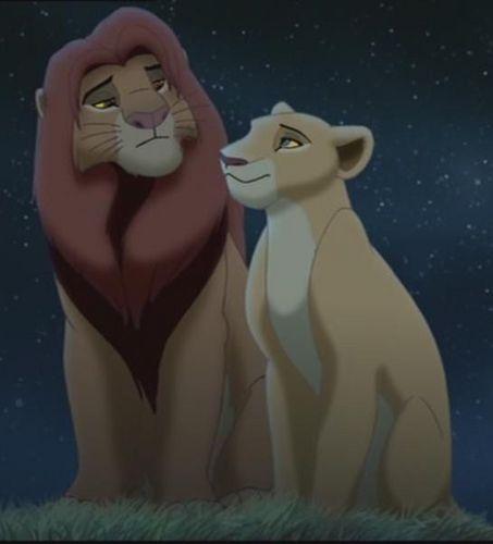 Disney Couples پیپر وال called Simba and Nala