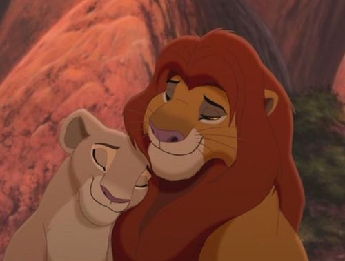 couples Disney fond d'écran titled Simba and Nala