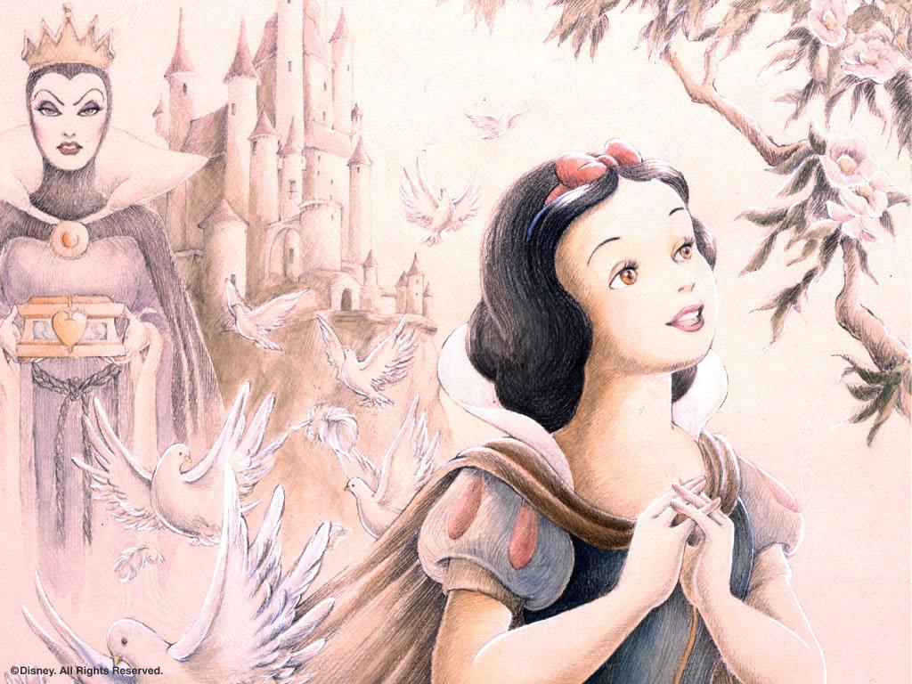 Snow white and the seven dwarfs snow white wallpaper