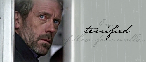 House M.D. wallpaper probably containing a sign called Terrified