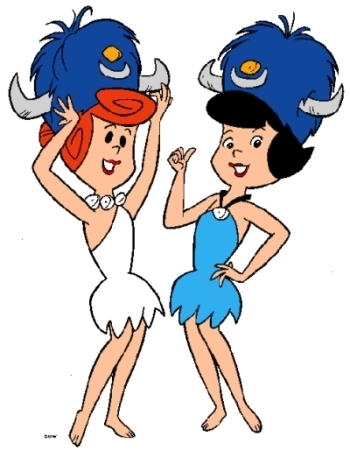 Wilma and betty flintstone