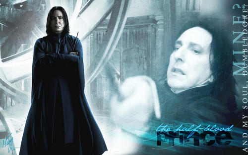 Severus Snape wallpaper probably containing a cloak titled The Half Blood Prince