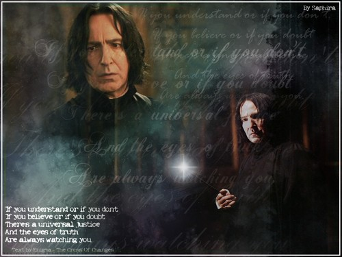 Severus Snape wallpaper probably with a sign entitled The Potions Master