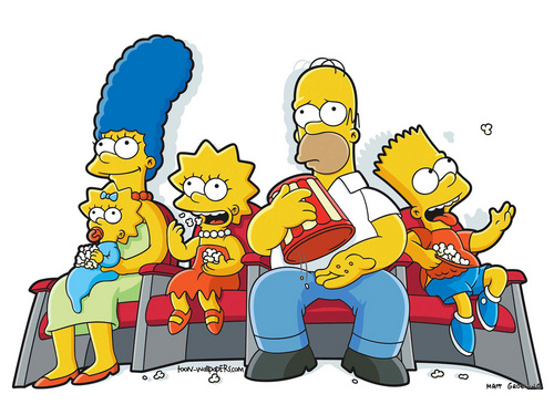 The Simpsons kertas dinding with Anime titled The Simpsons