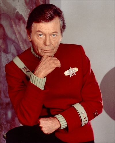 The final portrait of DeForest Kelley in his role as Doctor McCoy, from Star Trek VI.