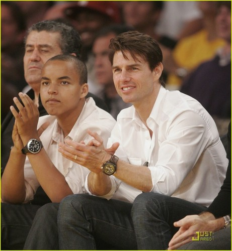 Tom at LA Lakers game
