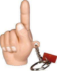 Yank My Finger Keychain