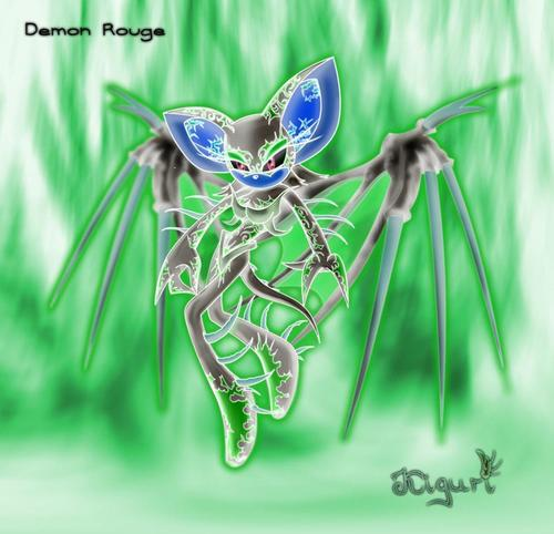 rouge the cool bat kertas dinding titled demon rouge
