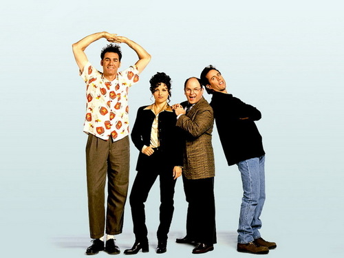 Seinfeld wallpaper containing a well dressed person, a pantleg, and long trousers called four