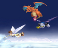 super-smash-bros-brawl - meta, charizard, pit screencap