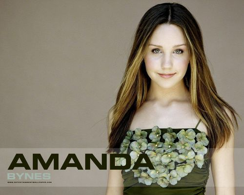 Amanda Bynes wallpaper possibly with attractiveness, a bustier, and a chemise titled -Amanda♥
