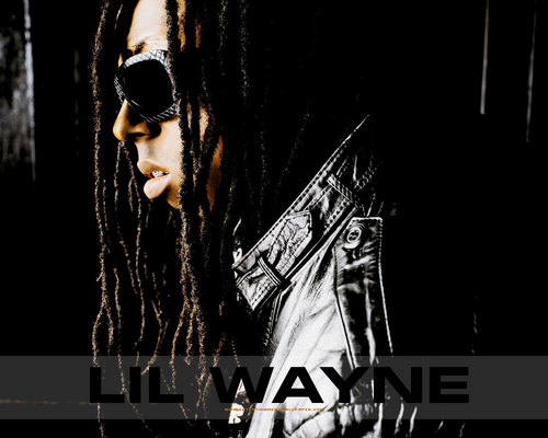 Lil' Wayne wallpaper probably containing a concert, sunglasses, and a sign called -LiLWayne♥