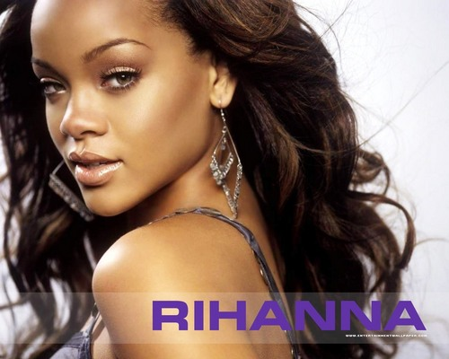 Rihanna wallpaper containing a portrait and attractiveness called -Rihanna♥