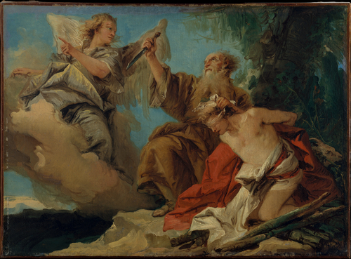 'The Sacrifice of Isaac' by Giovanni Domenico Tiepolo