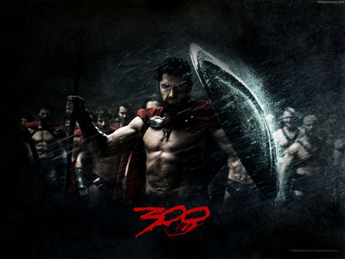 film wallpaper possibly with anime titled 300 the movie