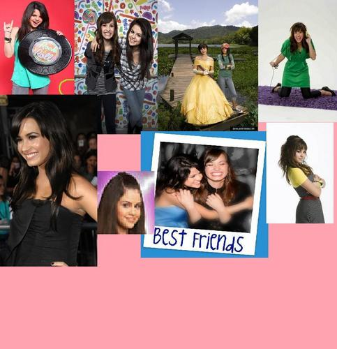 selena gomez dan demi lovato wallpaper probably with a bouquet titled A fan art i made