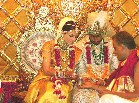 celeb weddings wallpaper possibly with a dashiki titled Abhishek and Aishwarya's Wedding