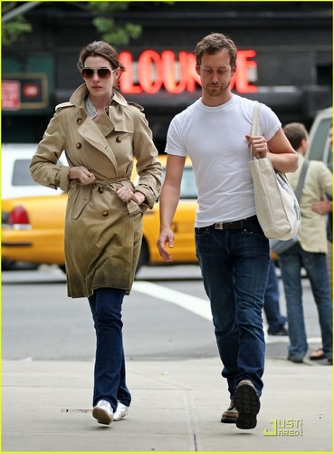 Anne Hathaway & Adam Shulman out and about