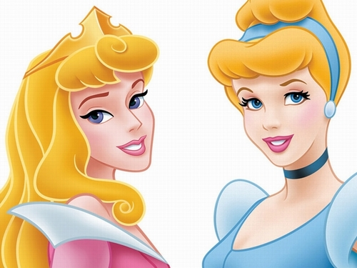 Walt Disney Images - Princess Aurora & Princess Cinderella Wallpaper