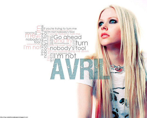 Avril Lavigne wallpaper with a portrait called Avril Lavigne