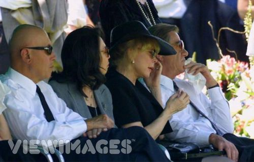 Barbara at son Matthew's funeral