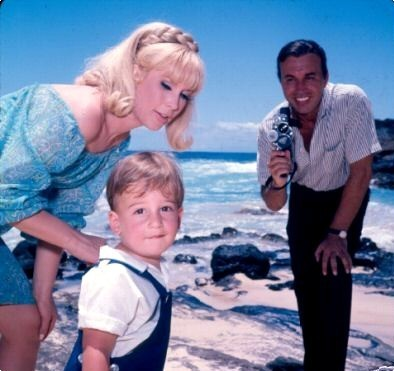 with husband Michael Ansara and son Matthew - i-dream-of-jeannie Photo