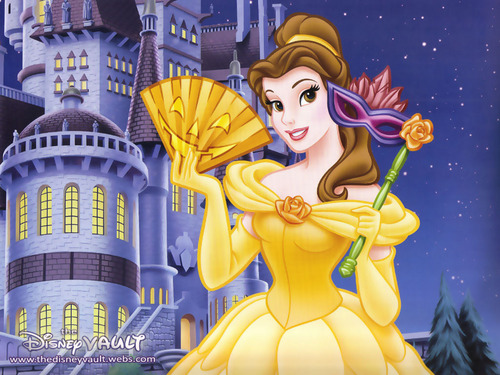 Beauty and the Beast wallpaper possibly containing anime called Belle Wallpaper