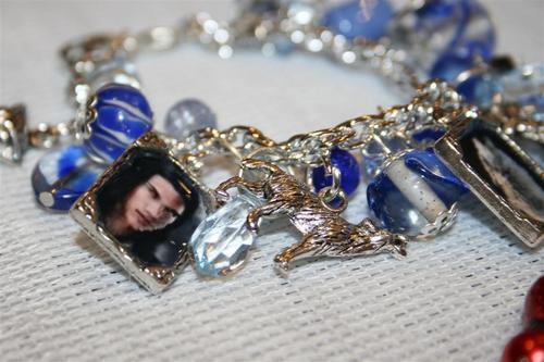 Blue loup Jocob inspired charm Bracelet $20