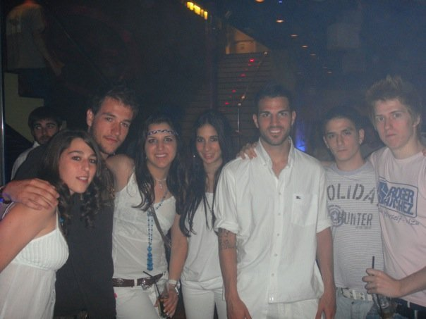 Cesc and Carla with friends